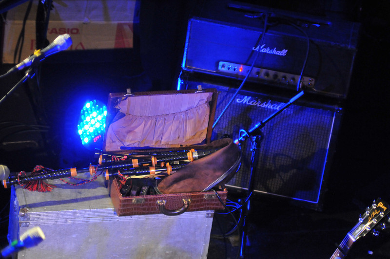 Tubes and wood:  Craig's pipes and a Marshall half stack.