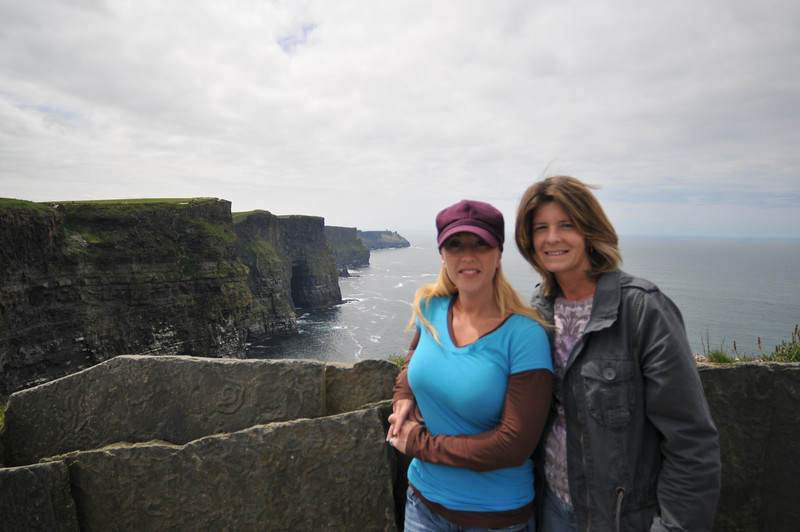 from the tower at the Cliffs of Moher