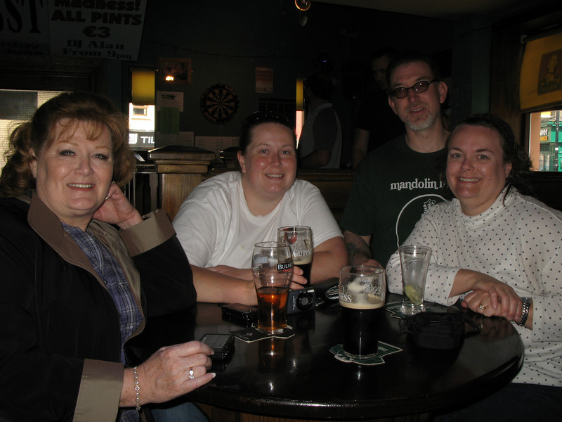 Sally, Jen, Jeff & Tanya in a Pub outside of Trim Castle.