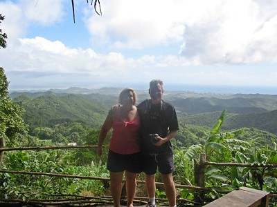 Lauralea and Gary overlooking Porlamar