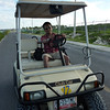 We rented a golf cart to go around the island