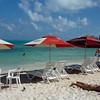 Beach chairs at Playa Tortuaga