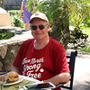 "The best meal of the day was lunch ordered at the restaurant beside the pool.  Here I am enjoying a ""Cheeseburger in Paradise,"" extra crispy fries in honour of Beamsville Dave (who loved them in March 2012) and a cold beer."