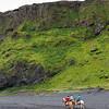 Reiter am Strand von Vík í Mýrdal