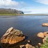 Fluss kur vor der Mündung in den Nordatlantik