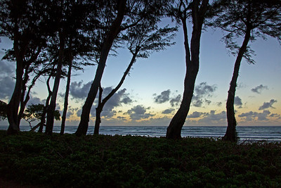 It's early in the morning on Kauai's east coast