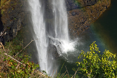 It' squite a splash at the bottom of Wailua Falls