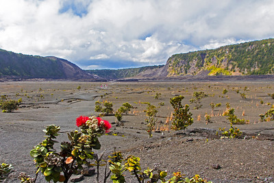 Visitors can walk on floor of the dormant Kilauea Iki Crater