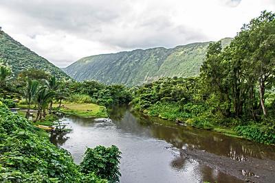 River at the bottom of Waipi'o Valley