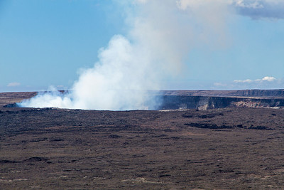 Closer view of Kilauea volcano, elevation 4,096 feet