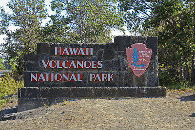 Entrance to Hawaii Volcanoes National Park
