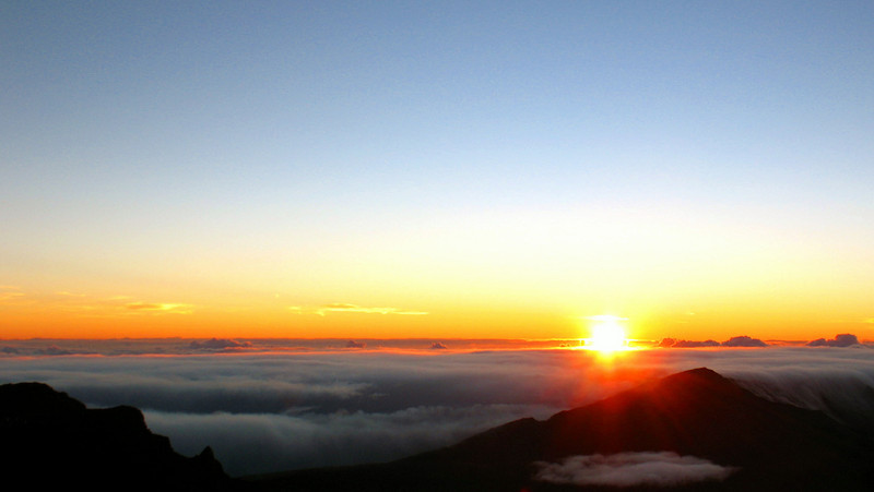 07/02/10: Sunrise on Mount Haleakala.