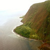 Cliffs along the coast of Molokai.