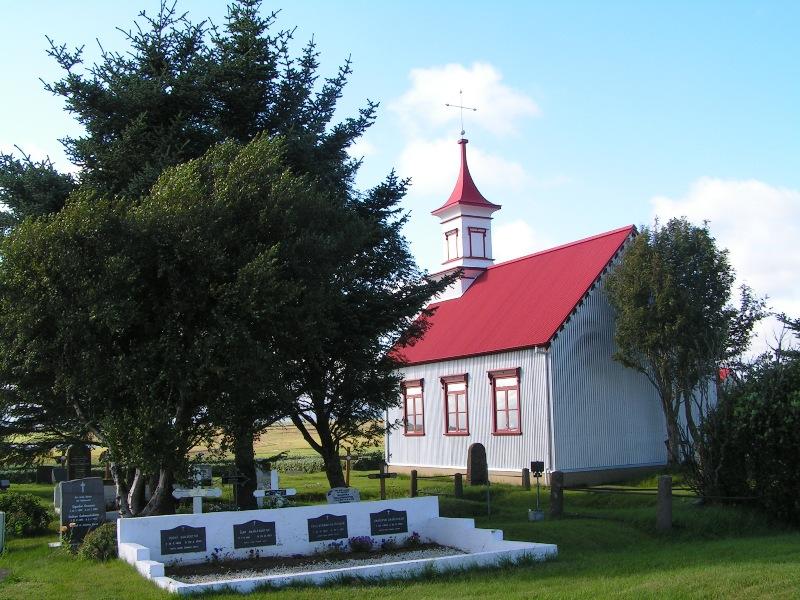 Pequeña igleisa, de un pueblecita de la Islandia profunda