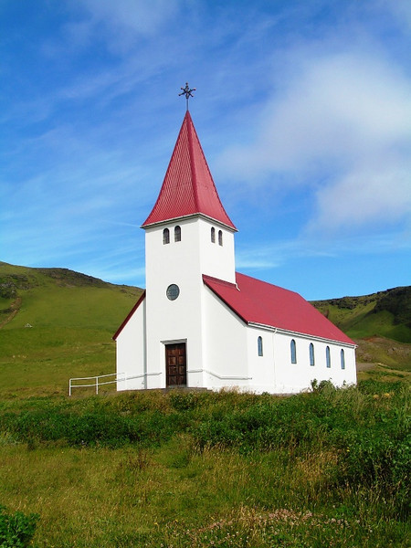 Iglesia de Vik, al sur de la isla