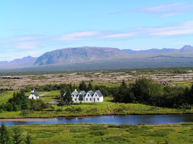 Pueblecito en Pingvellir, la cuna de la cultura islandesa