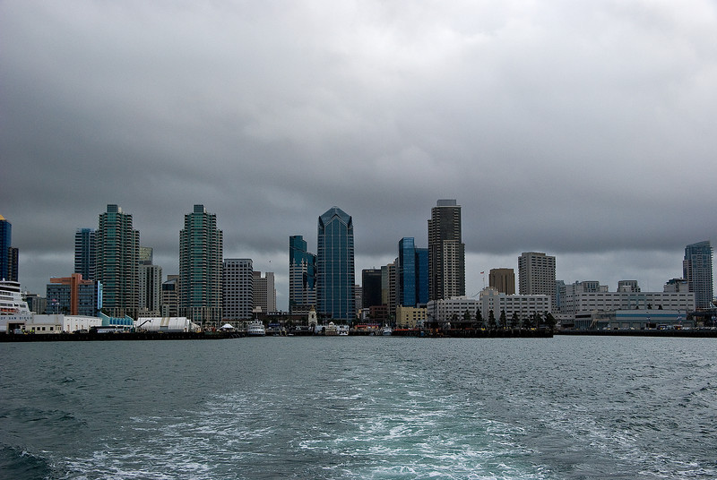 It was an overcast day when we embarked from San Diego.