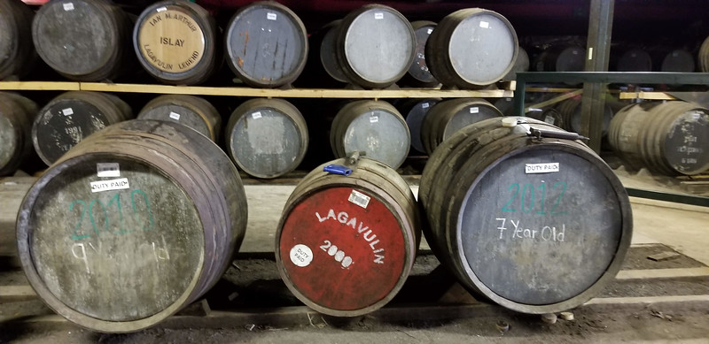 Lagavulin 7 and 9 year casks that we got to draw from (by mouth!) and taste.