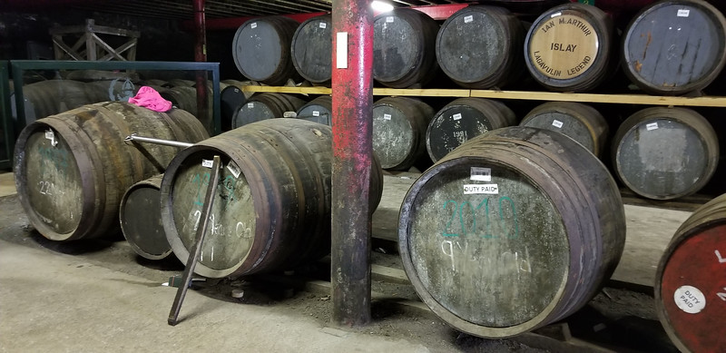 Casks from our warehouse demonstration with Iain McArthur, a 50 year whisky veteran.