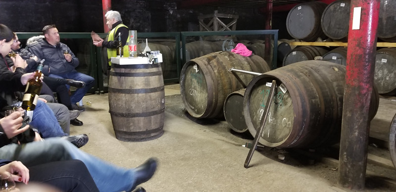 Lagavulin 21 and 22 year casks that we got to taste.