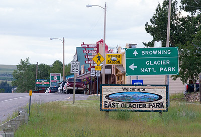 Community of East Glacier Park, Montana.