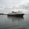 The Ferry to Mull approaching the dock in Oban.
