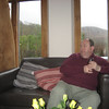 David Wilson at our self-catering place in Calgary, Mull.