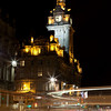 Barmoral hotel in the night, Edinburgh, Scotland