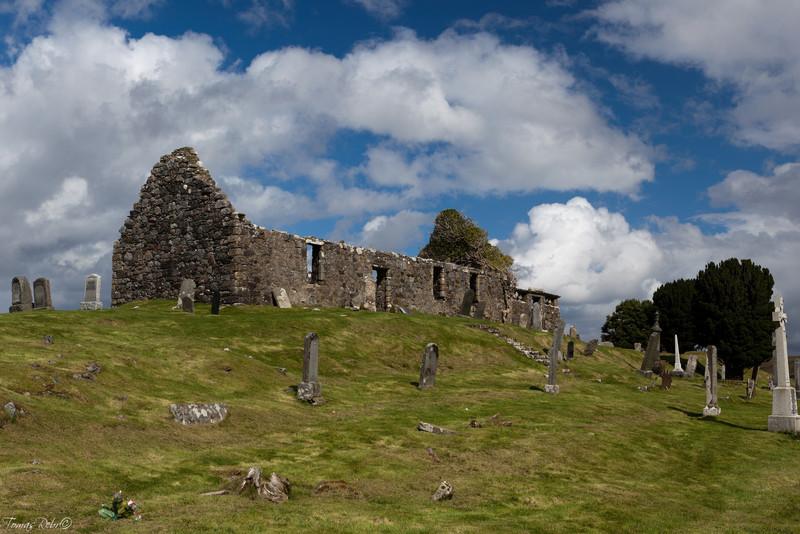 Ruins of the church, Isle of Skye, Scotland