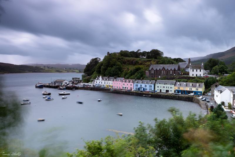 Rainy day in Portree, Isle of Skye, Scotland