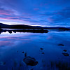 Sunset, Loch nah-Achlaise, Bridge of Orchie, Scotland