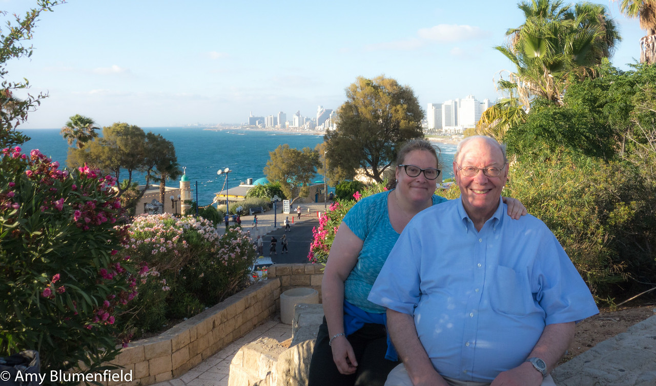 Me, Dad from Jaffa, overlooking Tel Aviv
