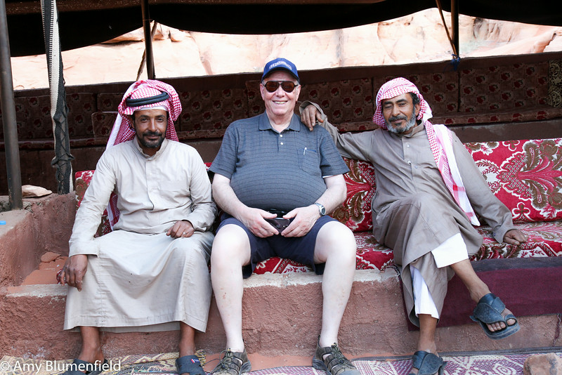 Dad, our driver & a vendor at Wadi Rum