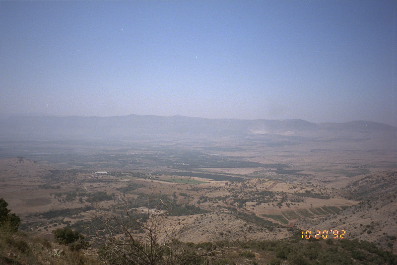 View from the Golan Heights