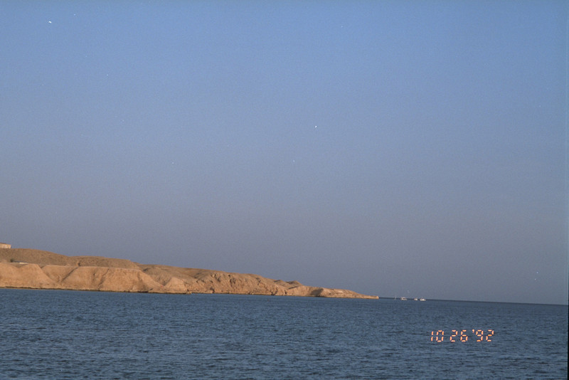 Across the Red Sea from Sharm el Sheikh