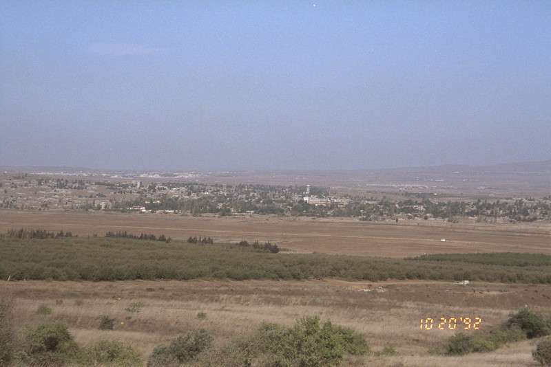 Looking out at Jordan from the Golan Heights