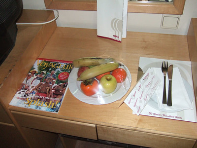 Room came with almost fresh fruit