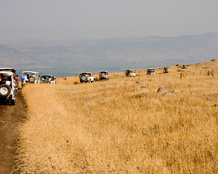 We set out along the edge of the Golan