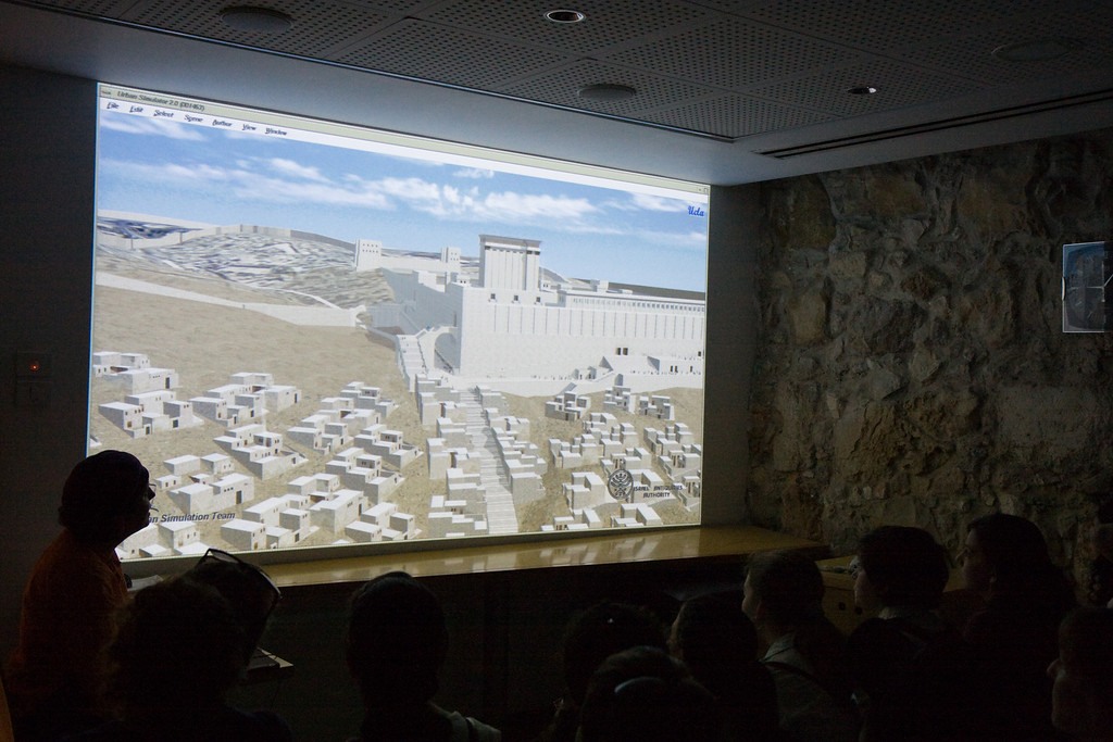 We saw an interractive reconstruction of the Temple