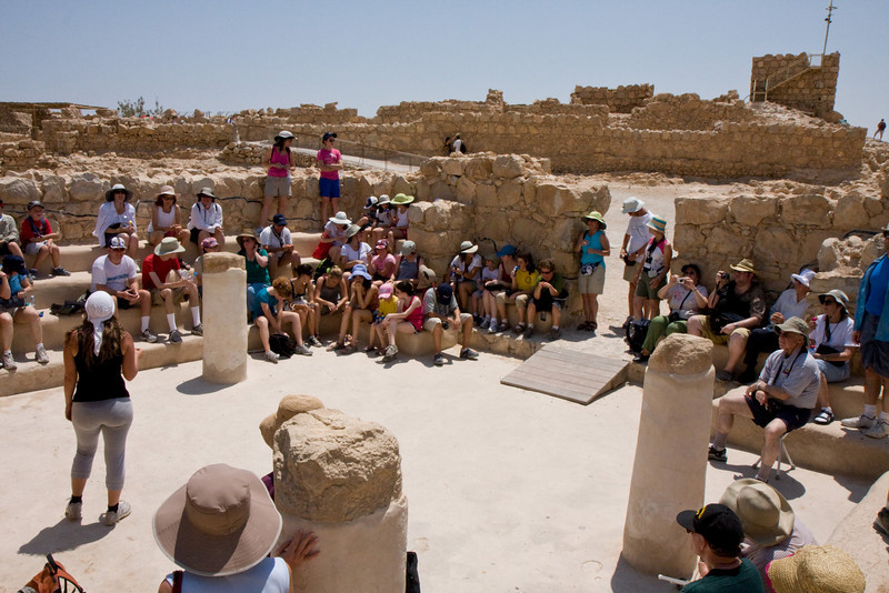 In the synagogue at Masada, the oldest one known in the world