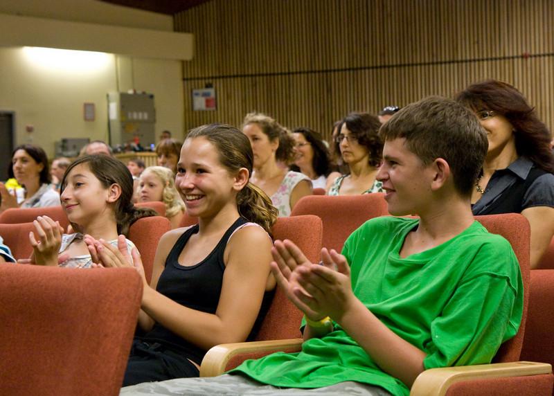 The kids sang at a youth village near Haifa