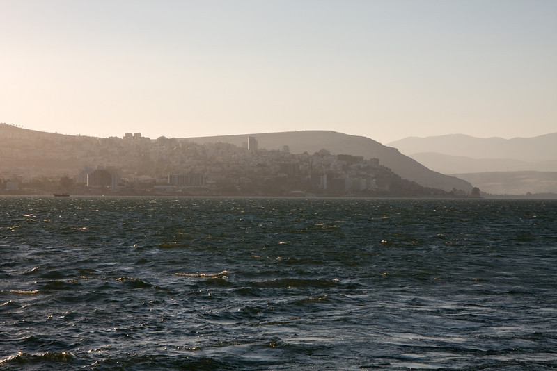 Tiberias, founded in the year 20, at the western shore of this largest of fresh water lakes in Israel