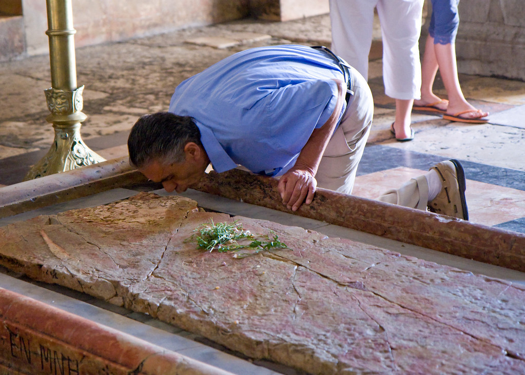 The 11th station of the cross, where Jesus' body was wrapped