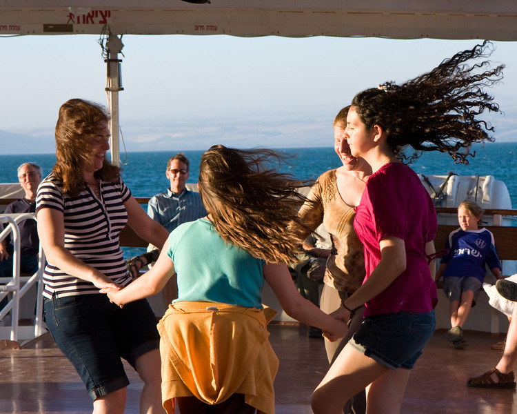 Dancing on the boat