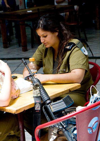 All Israelis have mandatory military service. Both boys and girls