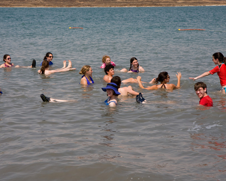 At the Dead Sea, 1500 feet below sea level, the water is so salty that it is impossible to sink. No other body of water on earth has it's concentration of salts