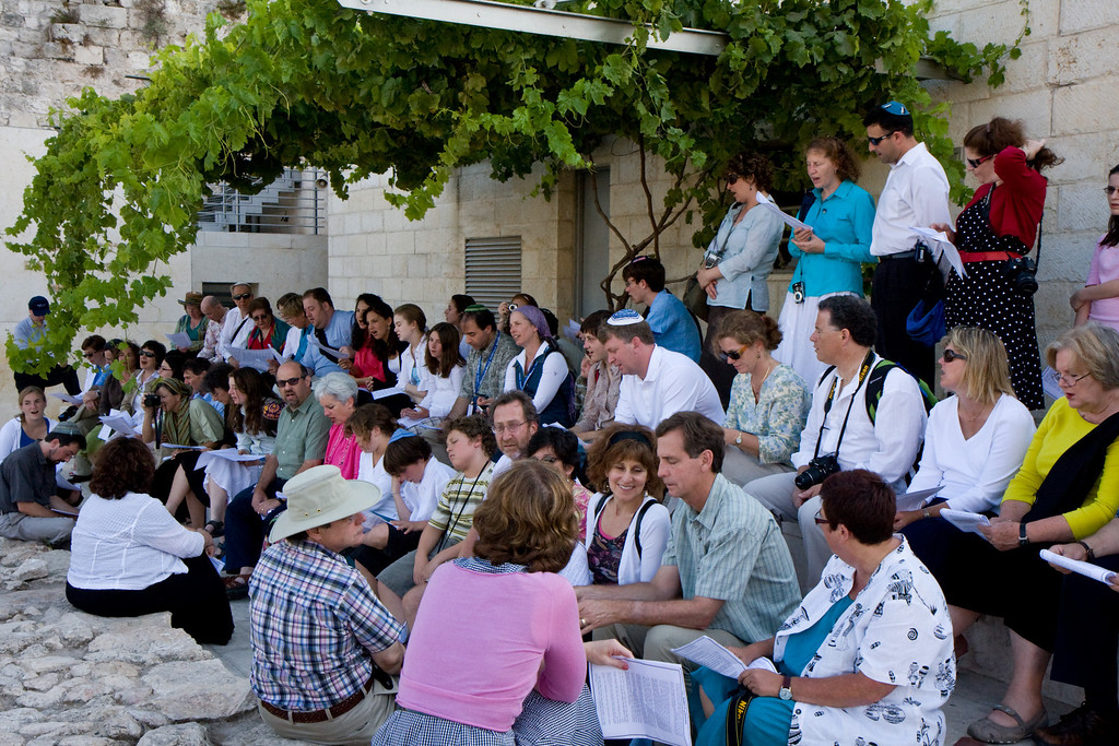 Welcoming the sabbath together near the Temple mount