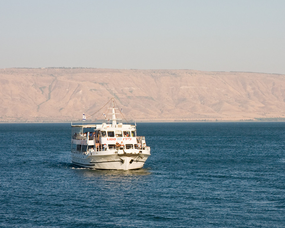 We had a boat ride on the Sea of Galilee