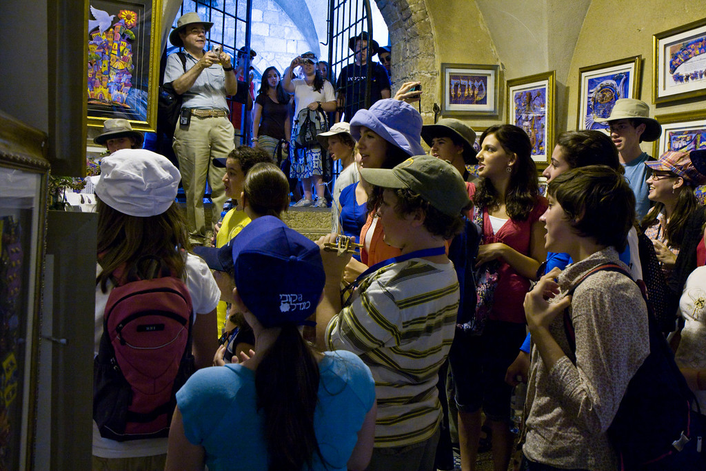 The kids spontaneously break out into singing in many places, such as here in the Cardo market