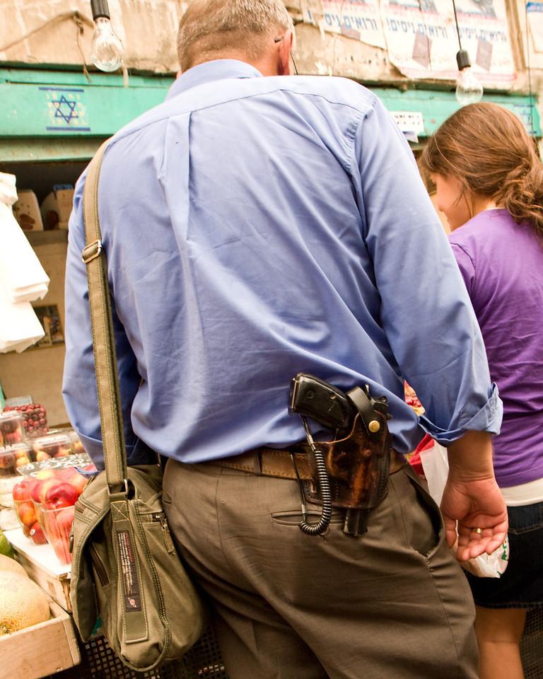 Shopper in the Jewish market
